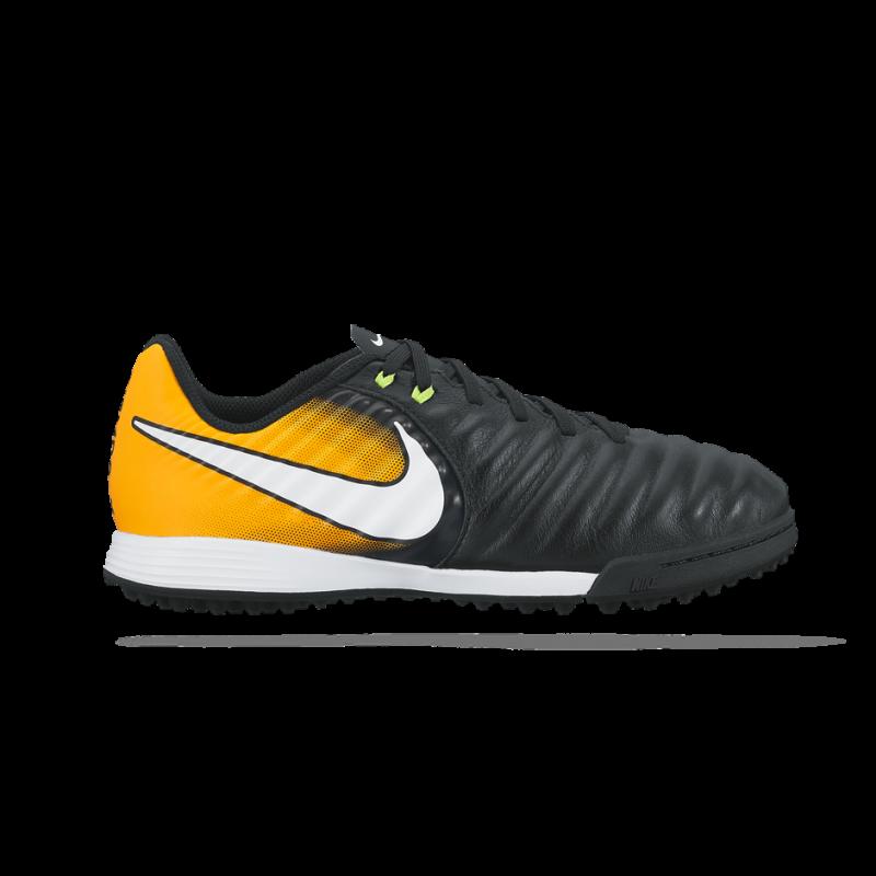 Nike Jr TiempoX Ligera IV IC schwarz-orange in Größe 38 / US 5,5Y