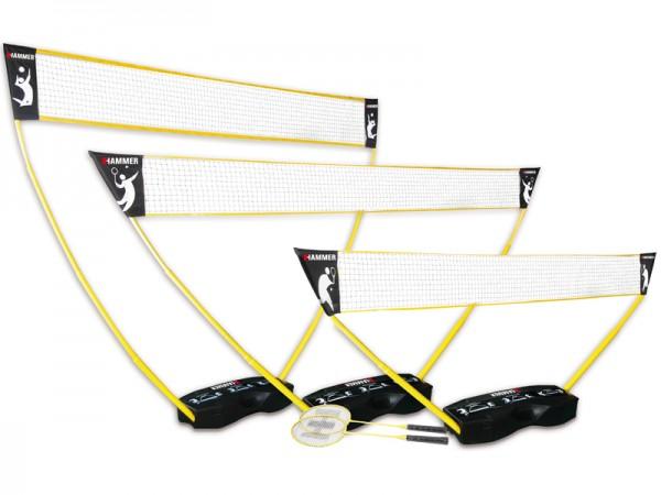 Hammer 3 in 1 Set PRO ink. Badminton Schläger & Bälle