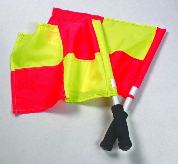 Linienrichterfahnen rot/gelb One Size