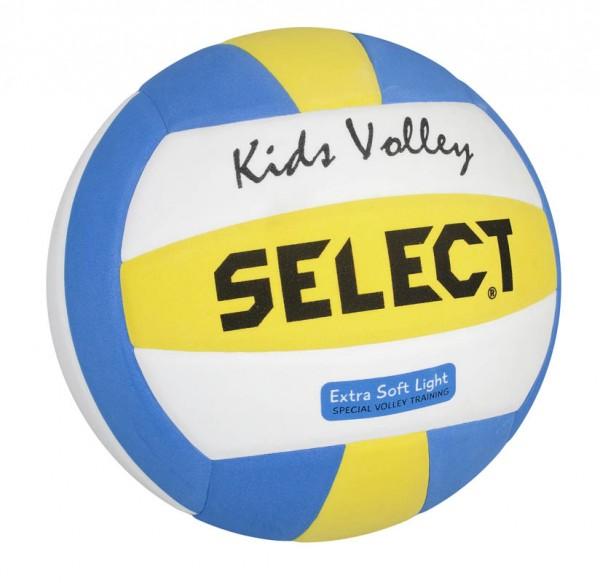 Kids Volleyball weiß/blau/gelb 4