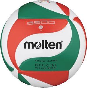 Volleyball V5M5500 Weiß/Grün/Rot 5