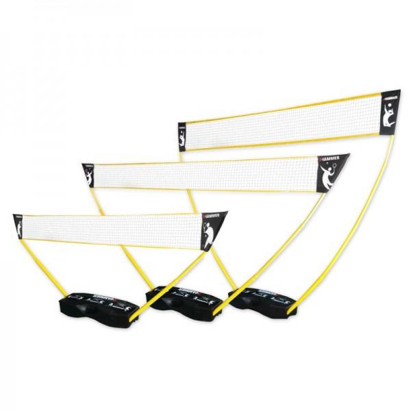 Hammer 3 in 1 Set für Volleyball, Badminton & Tennis