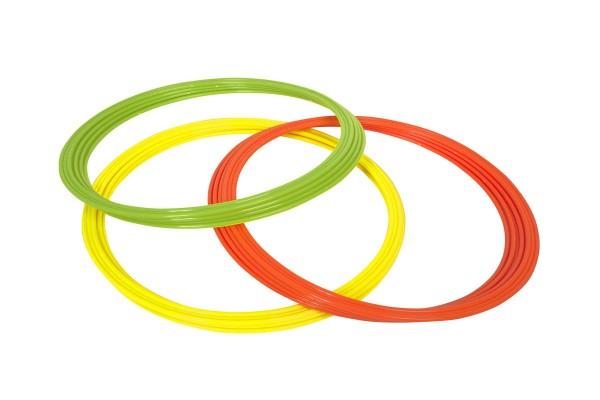 Koordinationsringe gelb/grün/orange (12Set) Durchmesser 60 cm