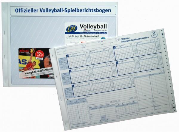Offizieller Spielberichtsbogen Volleyball